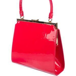 Mansur Gavriel Elegant Red Patent Leather Bag